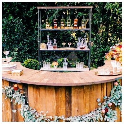 The Sunburst bar from Flying Cloud bars and events. Mobile bar for weddings and special events in Wilmington, NC