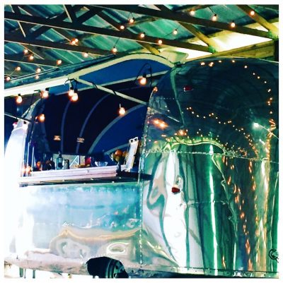 1959 vintage airstream converted into a bar for weddings and special events in Wilmington, NC
